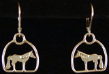 Standing Horse Drop Earrings