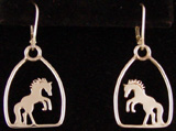 Rearing Horse Drop Earrings